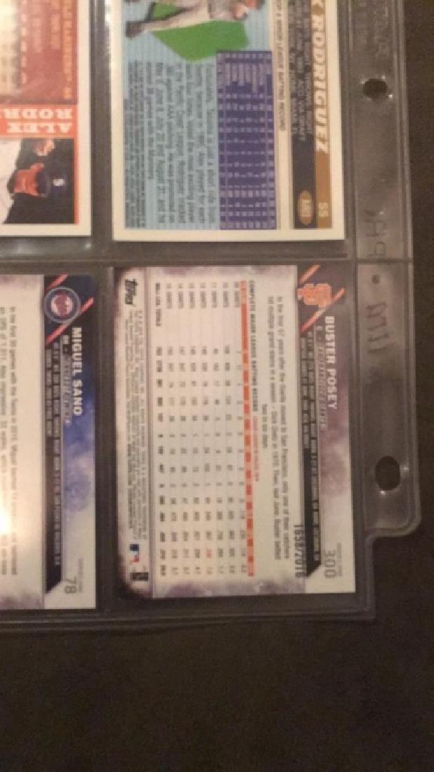 Nine Cardinal baseball lot Alex Rodriguez to Andy - 3