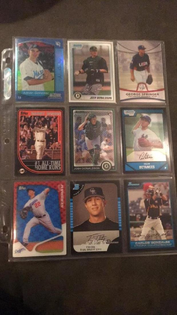Nine Card baseball lot Josh Donaldson 2 rookie