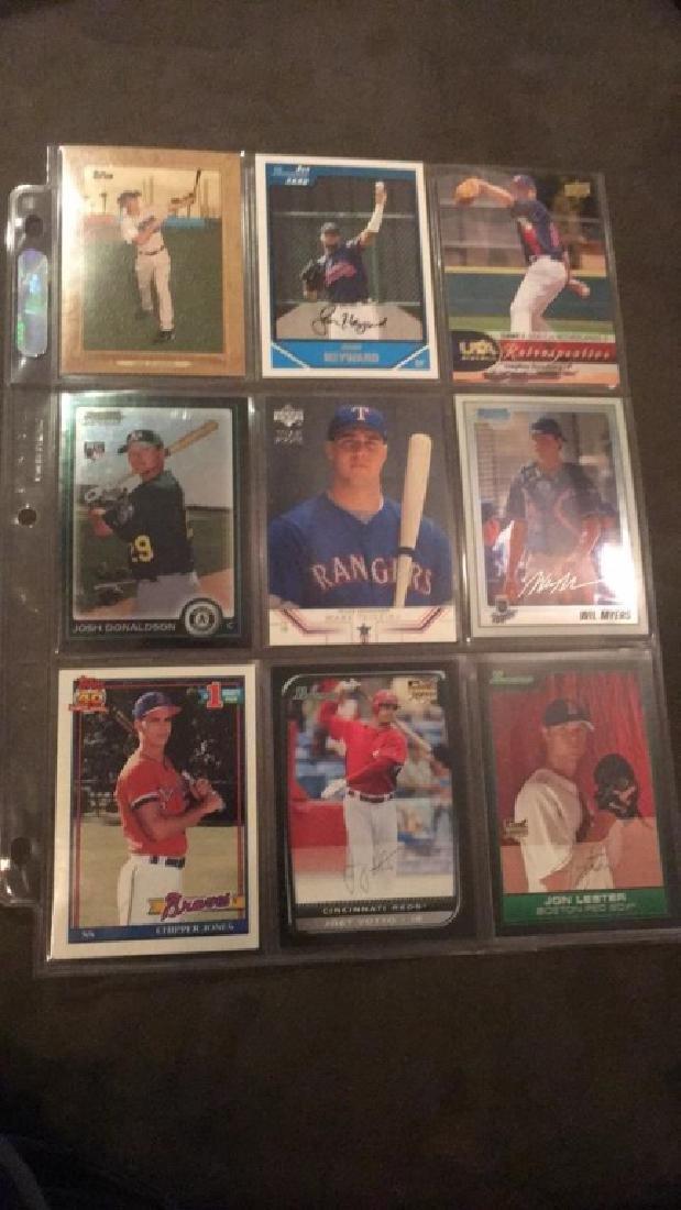 Nine card baseball rookie lot Josh Donaldson