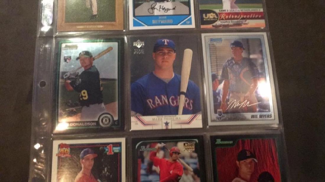 Nine card baseball rookie lot Josh Donaldson - 3