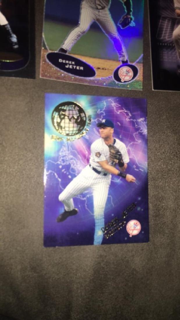 Derek Jeter seven card lot 2002 tops or world - 2