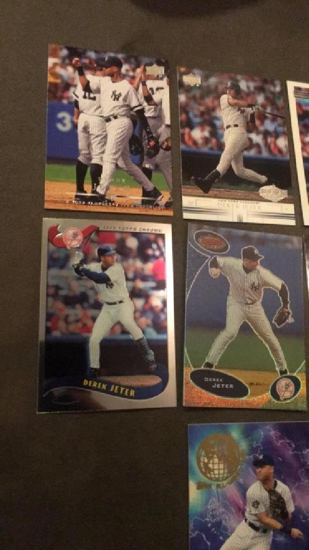 Derek Jeter seven card lot 2002 tops or world - 3