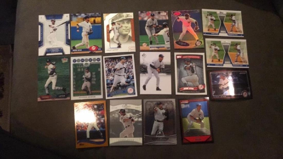 Derek Jeter 17 card lot with premium cards really