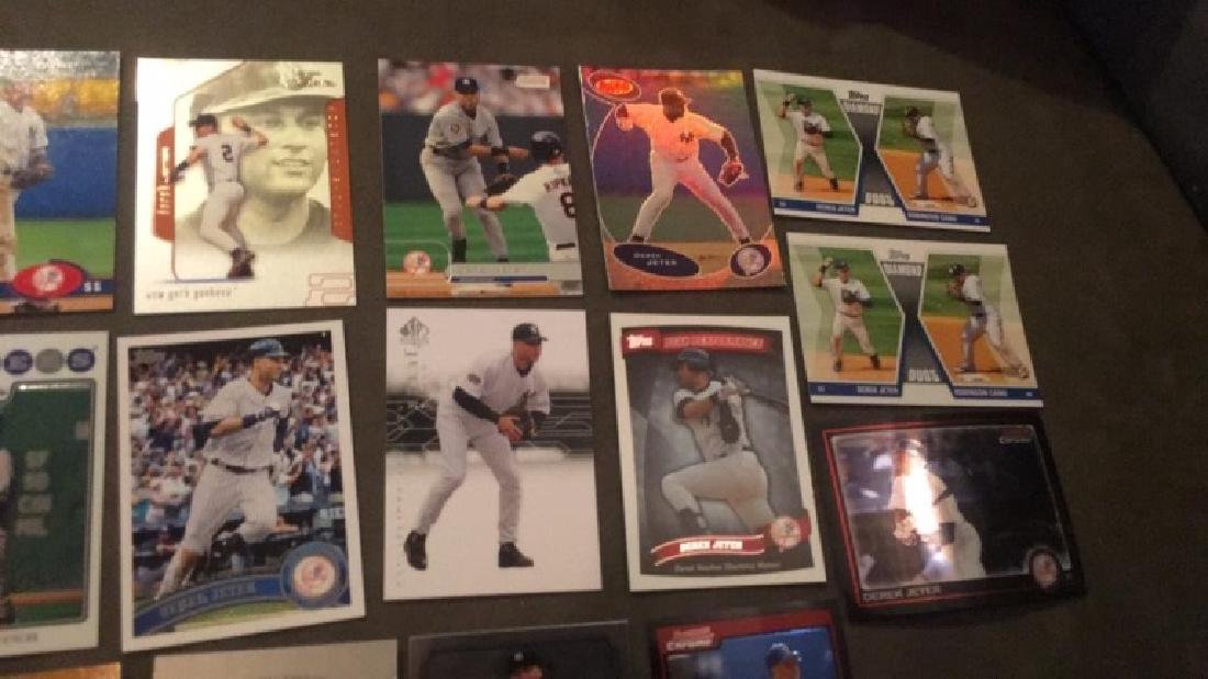 Derek Jeter 17 card lot with premium cards really - 4