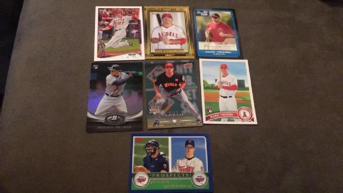 Mike Trout two cards Mark Trumbo to rookie cards