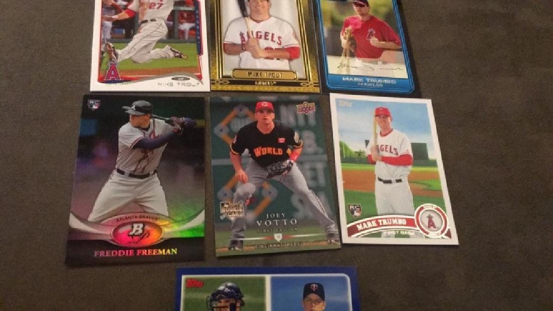 Mike Trout two cards Mark Trumbo to rookie cards - 3