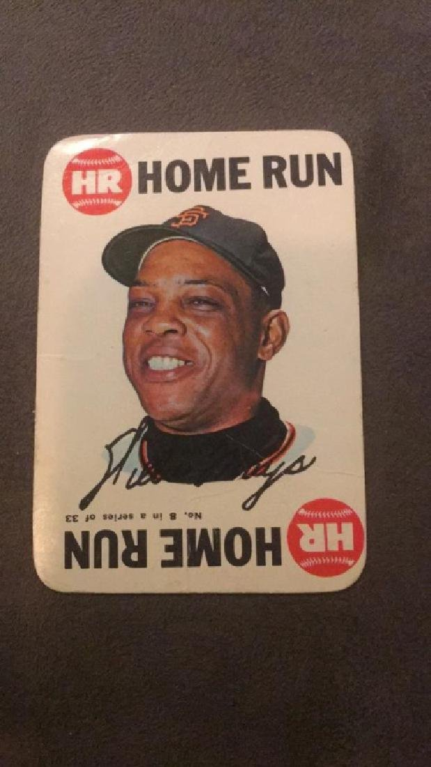 Willie Mays topps game vintage card