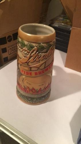 Stroh's beer stein fire brewed beer