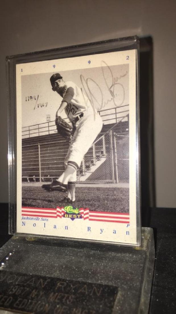 Nolan Ryan classic best on card autograph short - 3
