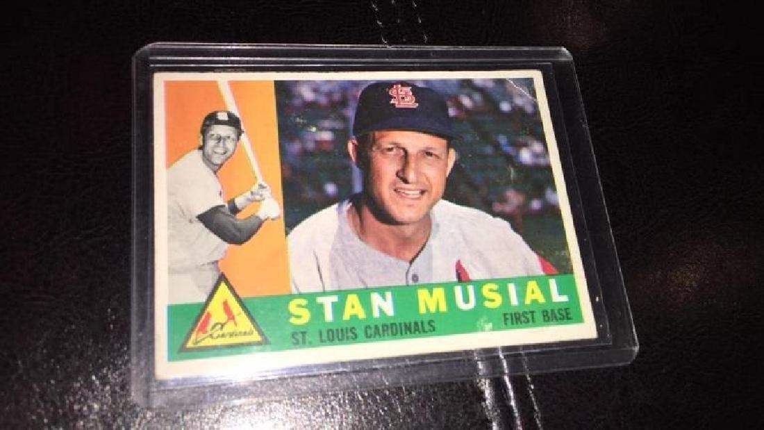Stan Musial 1960 topps vintage baseball card