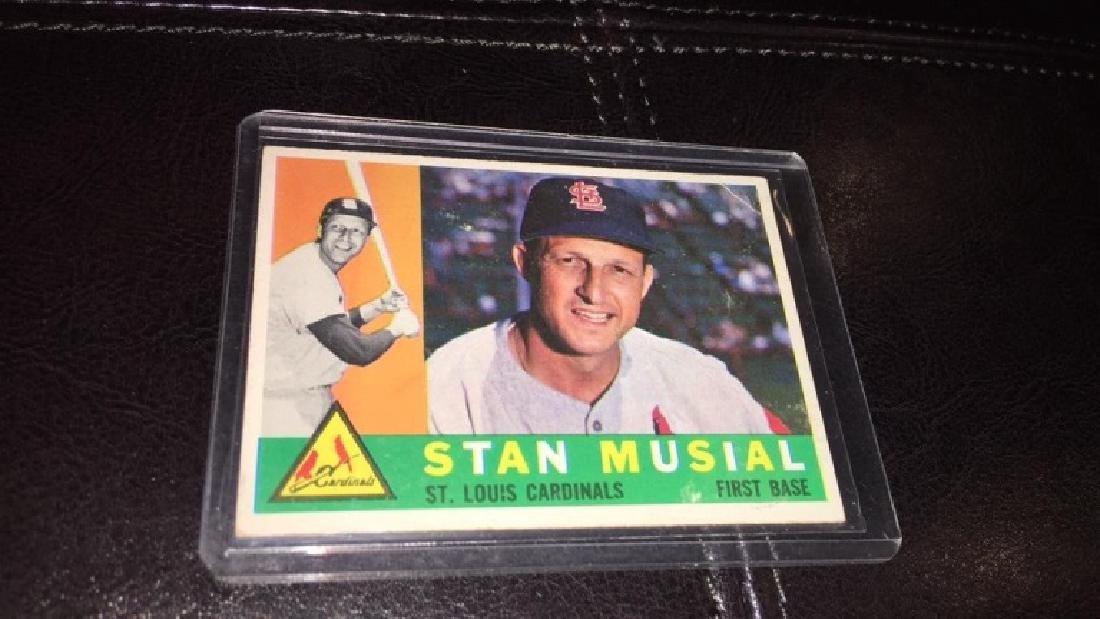 Stan Musial 1960 topps vintage baseball card - 2