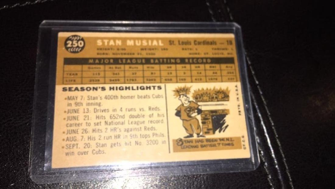 Stan Musial 1960 topps vintage baseball card - 3