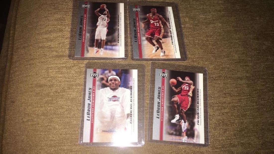 LeBron James phenomenal beginning 4 Card RC lot