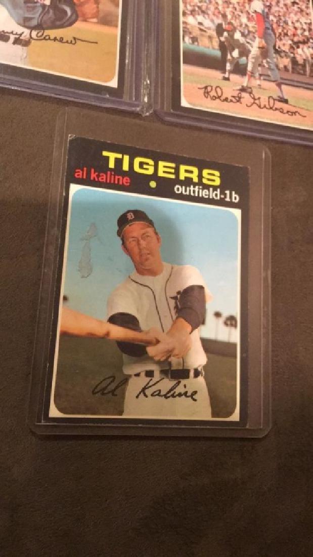 1971 topps Rod Carew Bob Gibson Al Kaline - 4