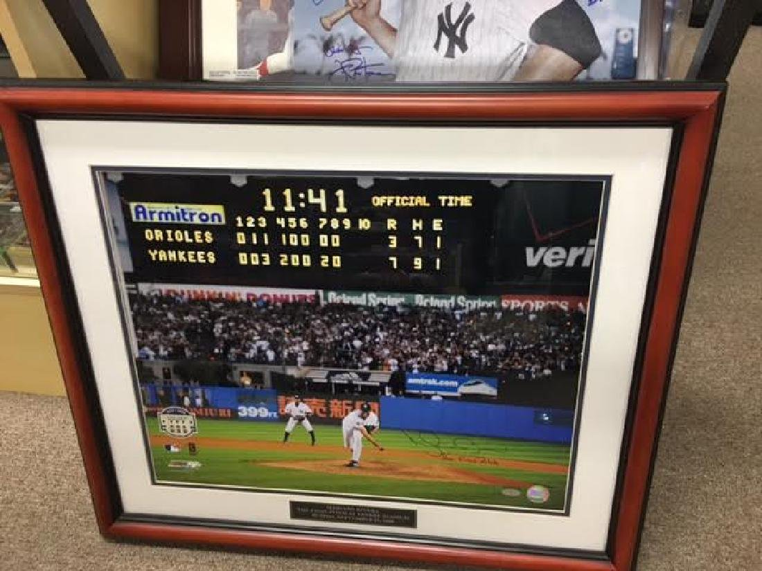 Mariano Rivera Signed Large Framed Picture with SA
