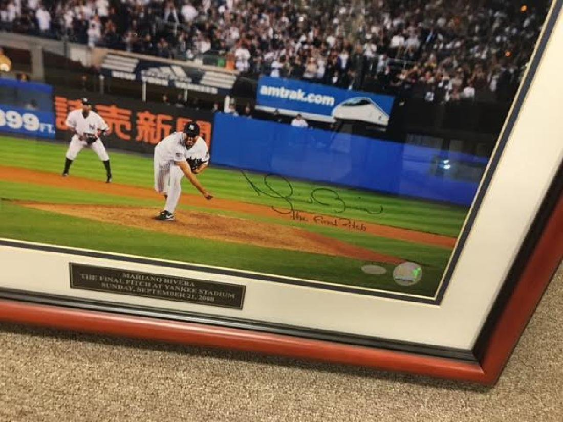 Mariano Rivera Signed Large Framed Picture with SA - 2