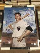 Large Mickey mantle Photo Signed by 31 Yankees