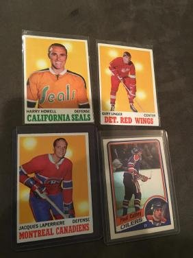 Lot of 4 Vintage Hockey card Harry Howell Gary un