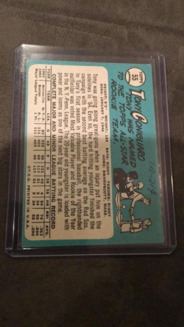 Tony Conigliaro 1965 tops All-Star rookie card - 2