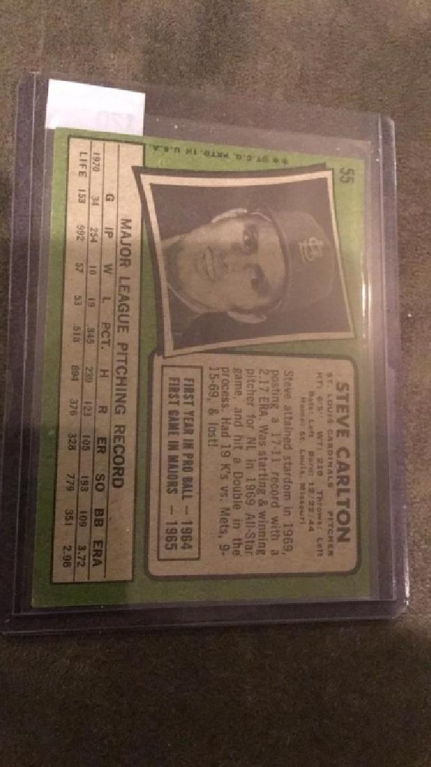 Steve Carlton 1971 Topps vintage card nice - 2