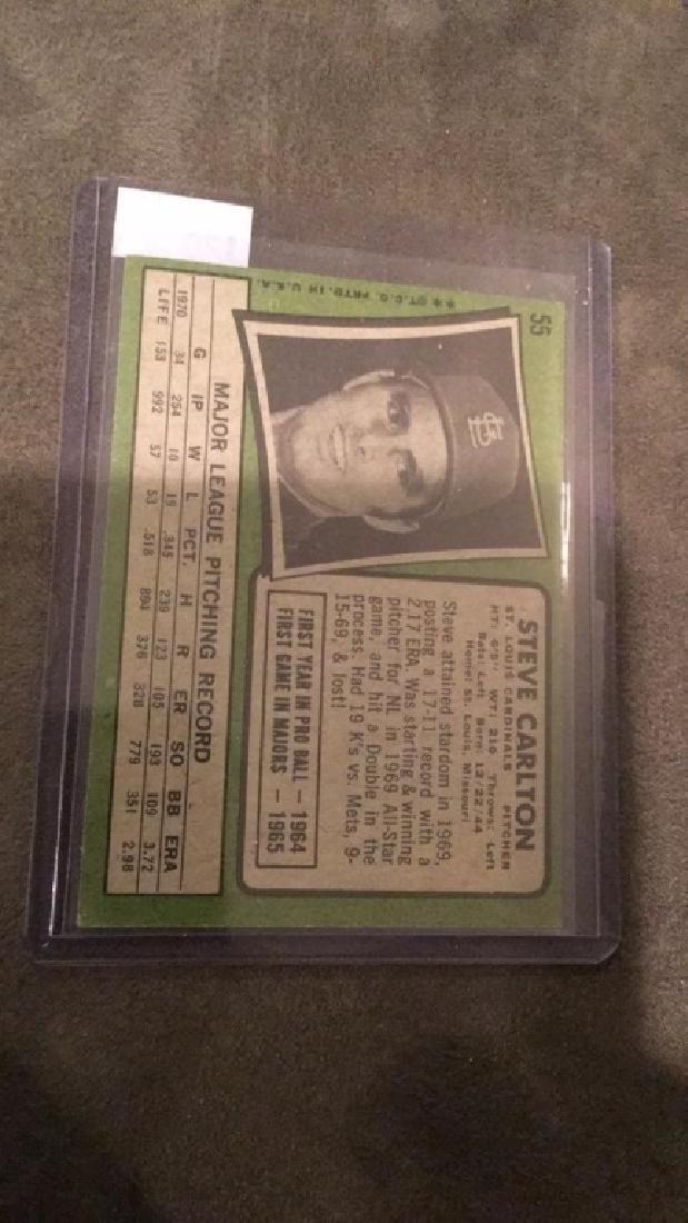 Steve Carlton 1971 Topps vintage card nice - 3