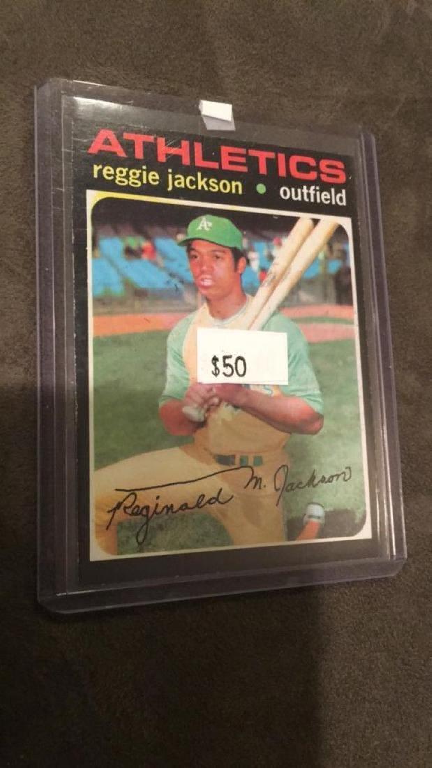 1971 topps Reggie Jackson vintage baseball card