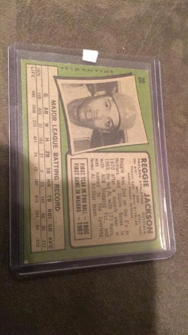 1971 topps Reggie Jackson vintage baseball card - 2