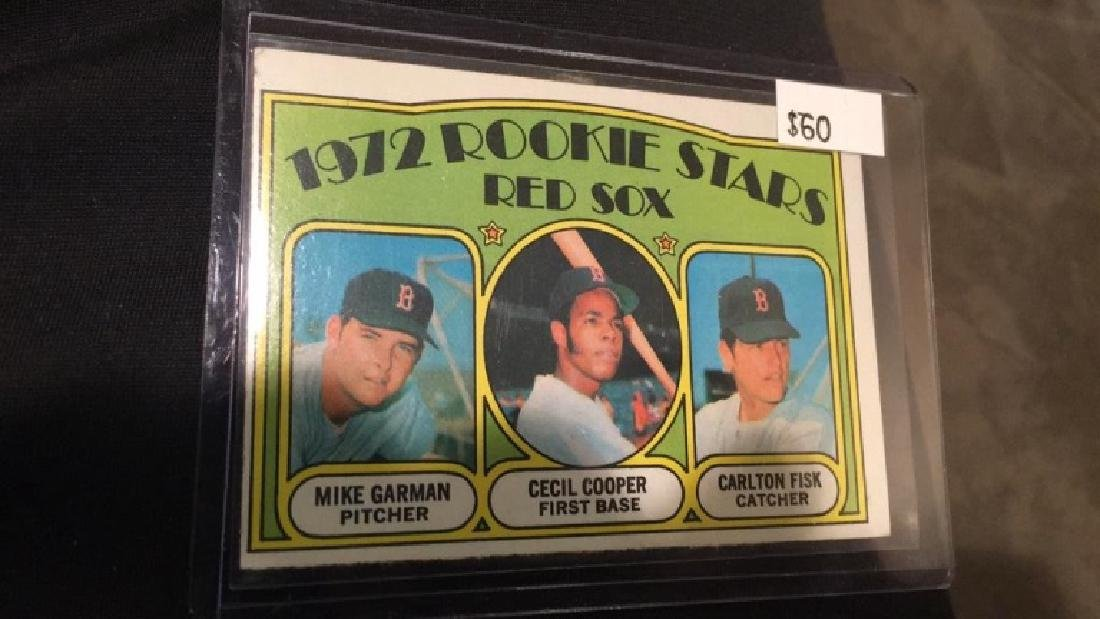 1972 topps Carlton Fisk Cecil Cooper rookie card