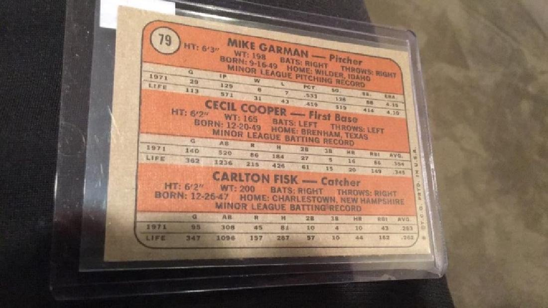 1972 topps Carlton Fisk Cecil Cooper rookie card - 2