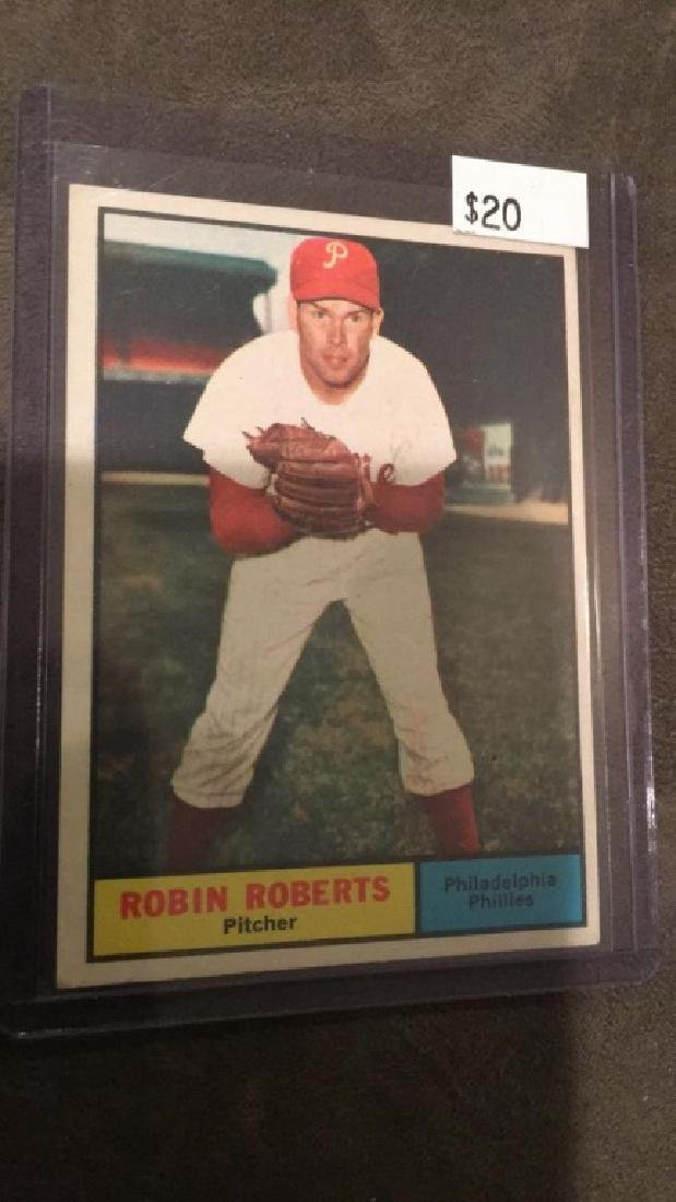 Robin Roberts 1961 topps vintage baseball card