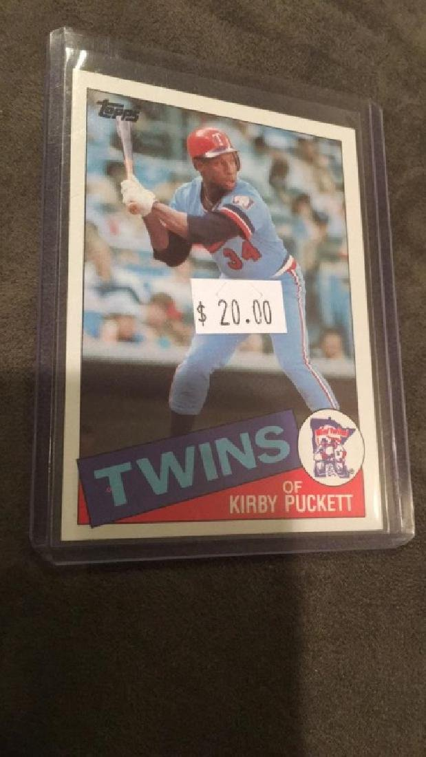 Kirby Puckett 1985 topps rookie card