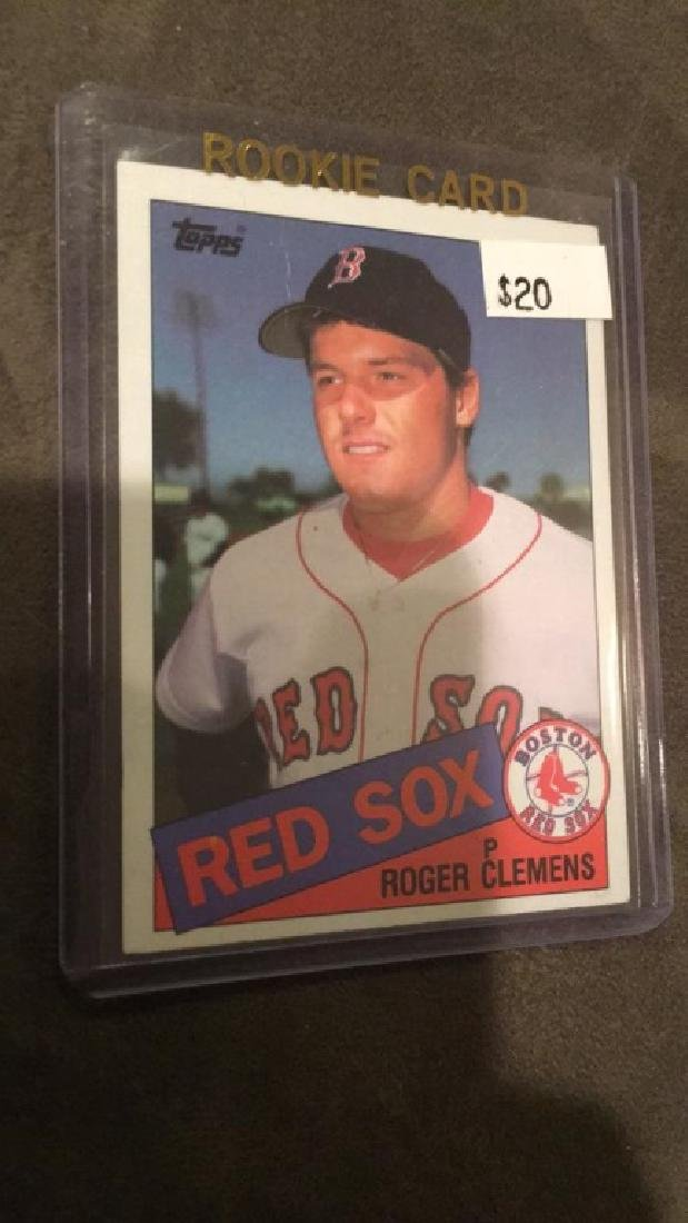 Roger Clemens 1985 topps rookie card