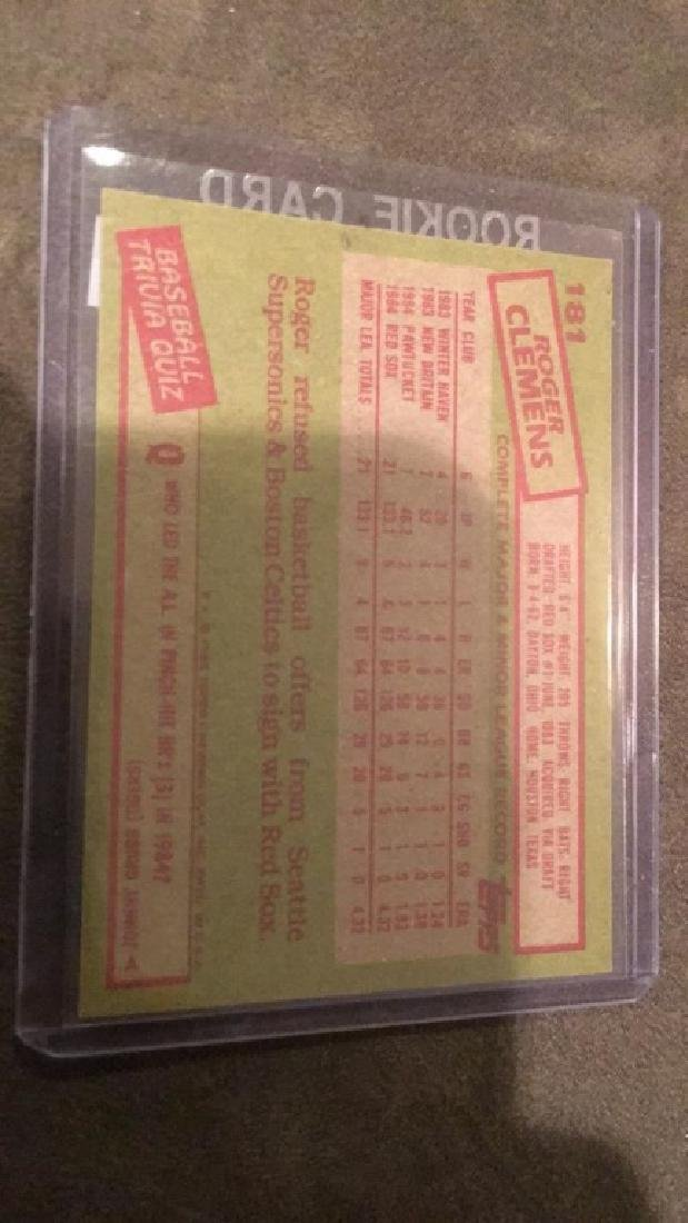 Roger Clemens 1985 topps rookie card - 2