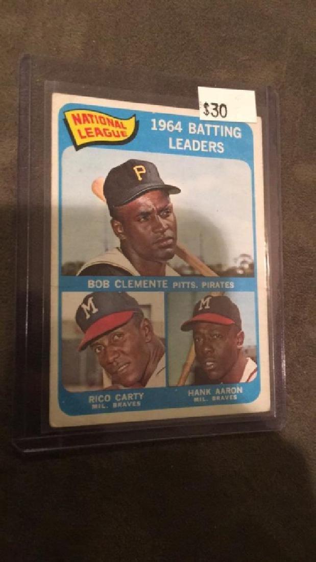 1964 batting leaders Roberto Clemente Hank Aaron