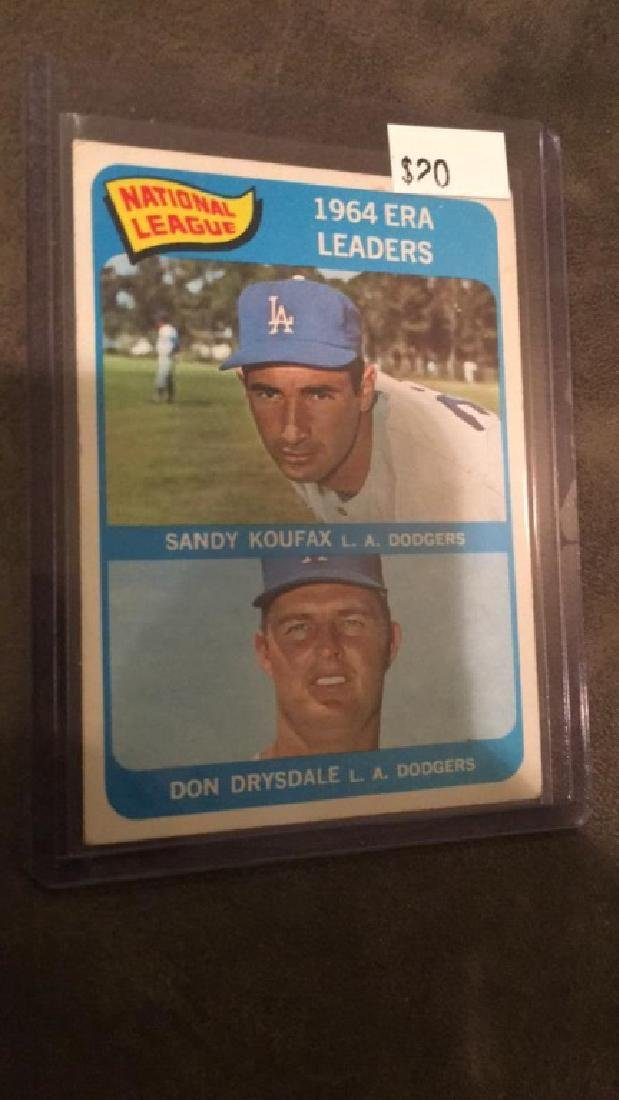 1964 Era leader Sandy Koufax Don Drysdale