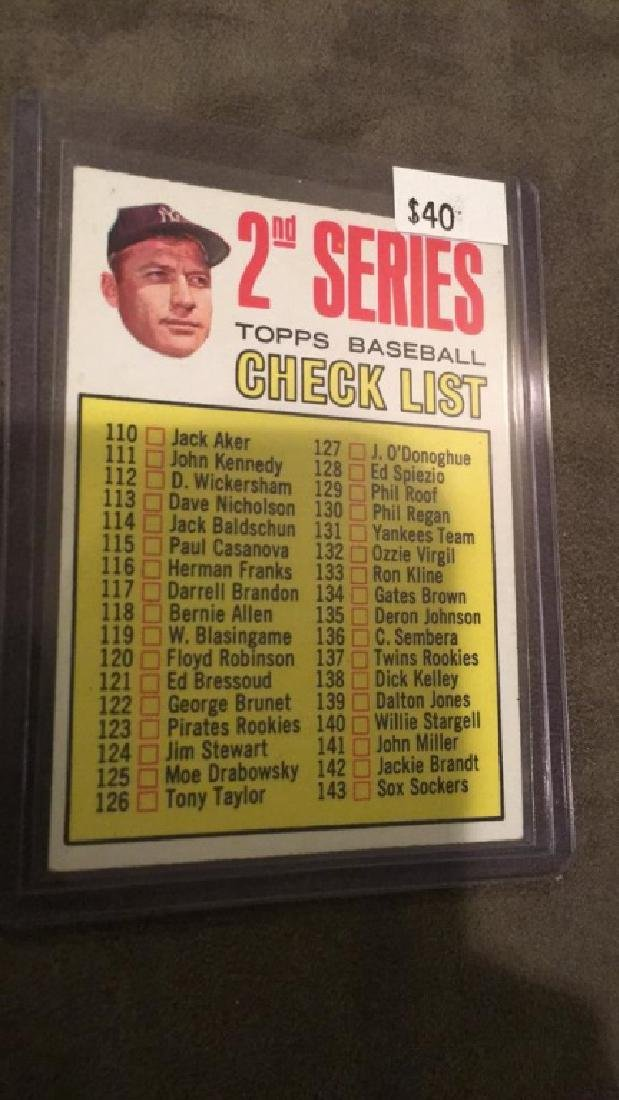 1963 topps Mickey Mantle second series baseball