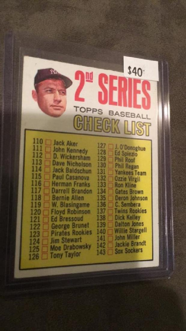 1963 topps Mickey Mantle second series baseball - 2