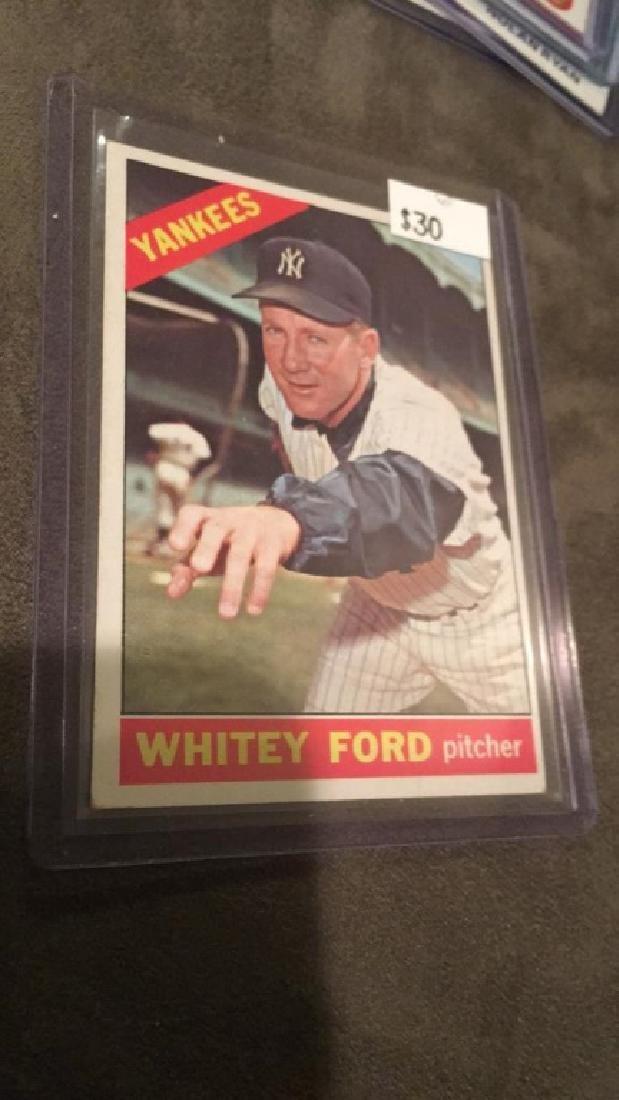 Whitey Ford 1966 Topps baseball card