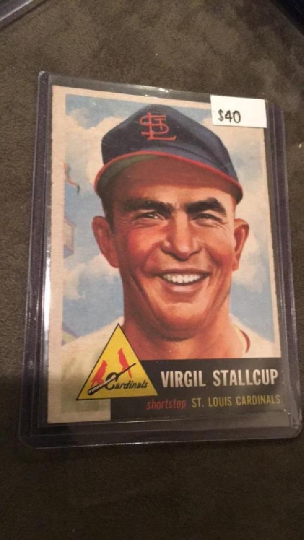 Virgil Stallcup 1953 topps vintage baseball card - 2