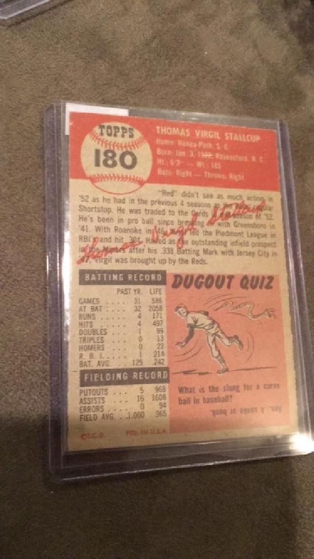 Virgil Stallcup 1953 topps vintage baseball card - 3