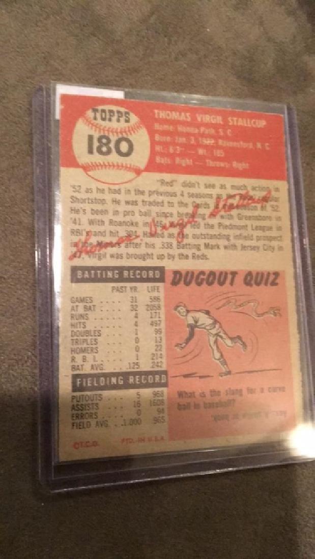 Virgil Stallcup 1953 topps vintage baseball card - 4