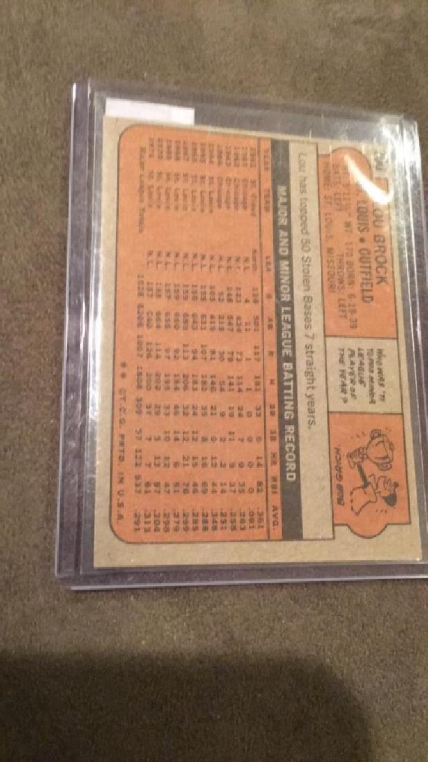 Lou Brock 1972 topps vintage baseball card nice - 2