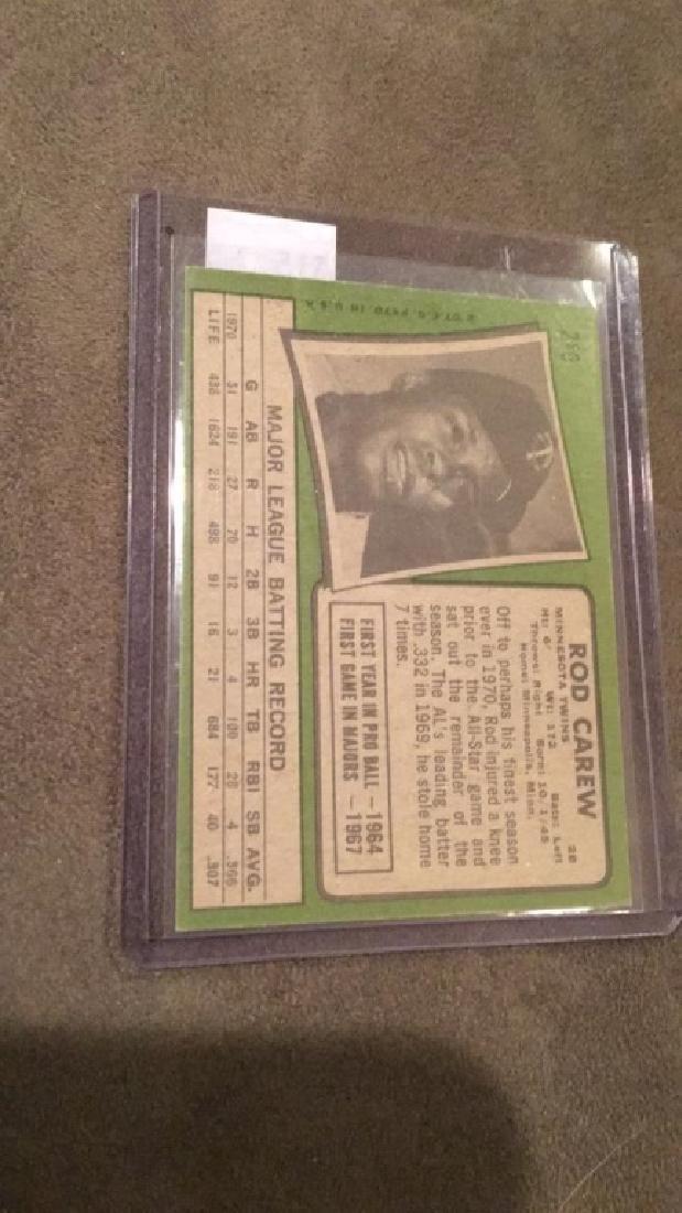 Rod Carew 1971 Topps vintage baseball card in - 2