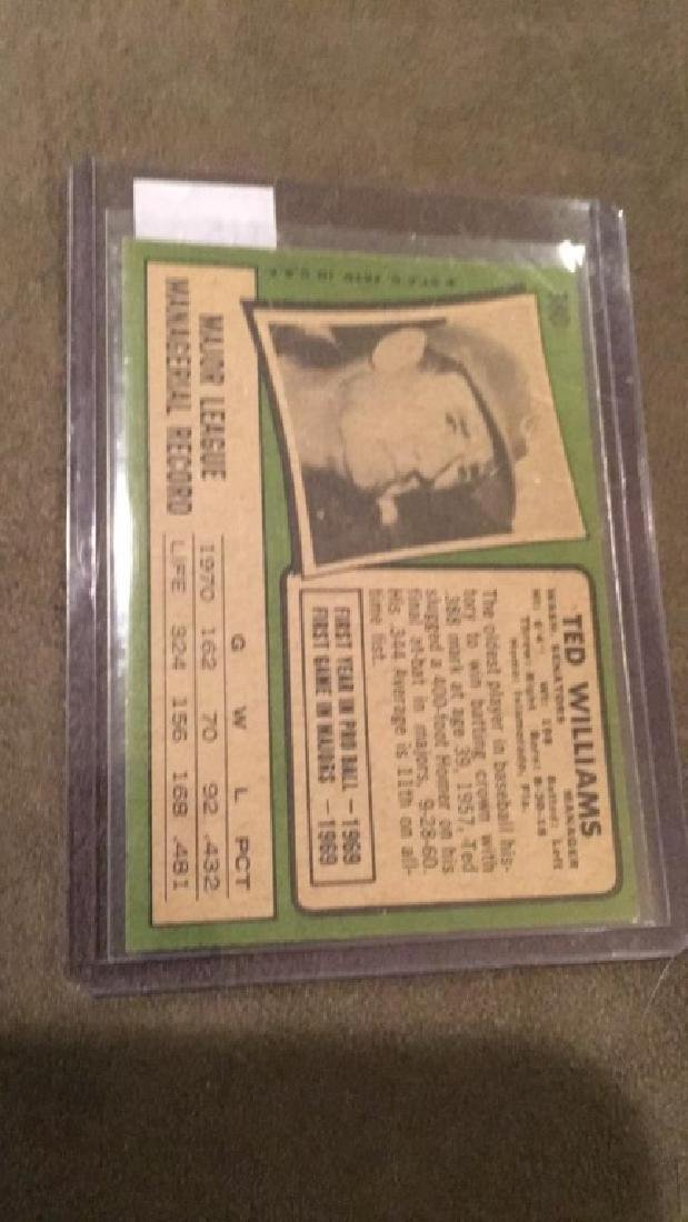 Ted Williams 1971 topps vintage baseball card - 3