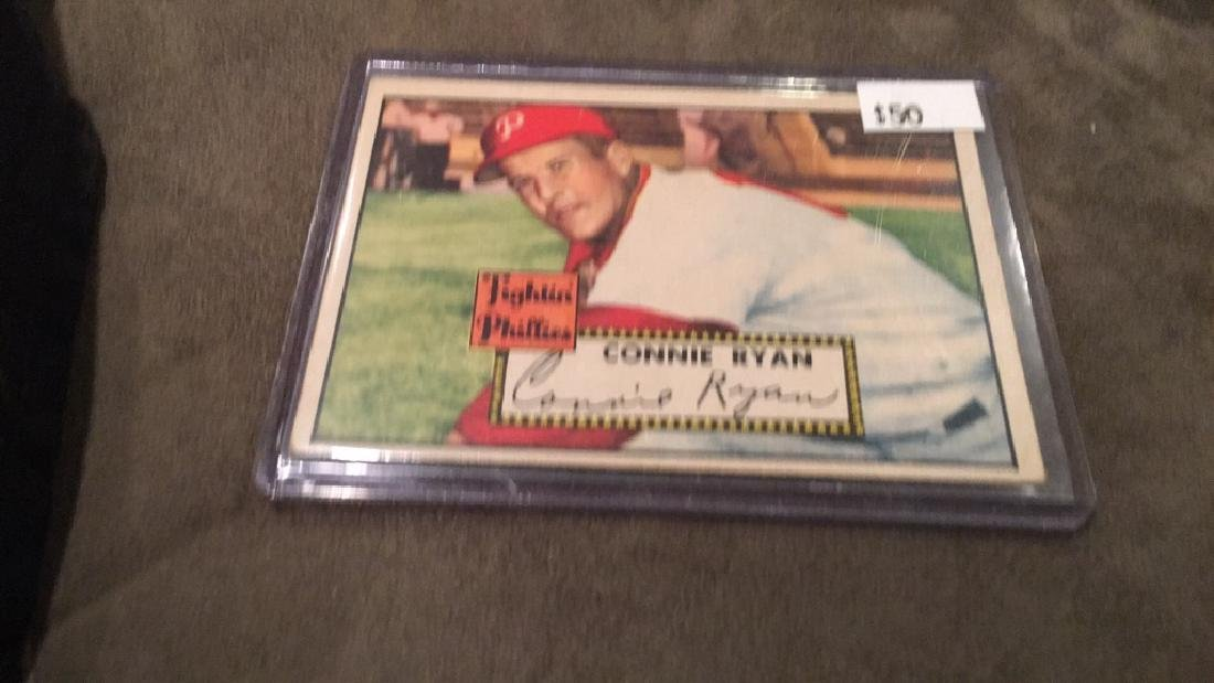 Connie Ryan 1952 topps in nice condition this is a - 2