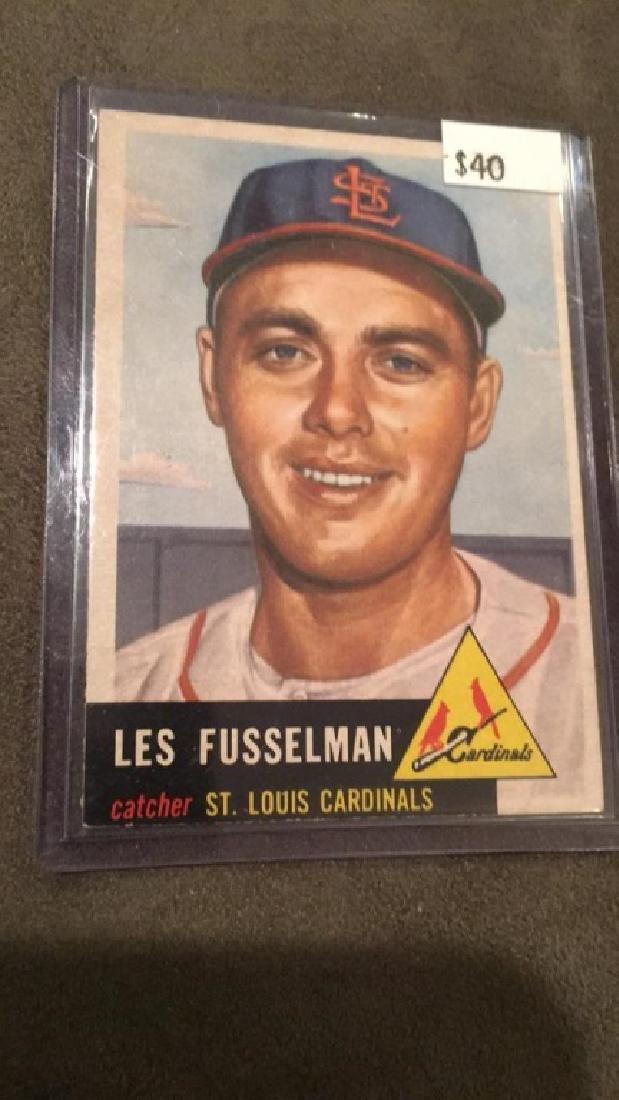 Les Fusselman 1953 topps vintage baseball