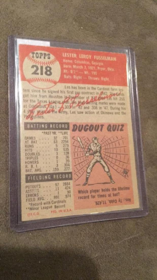 Les Fusselman 1953 topps vintage baseball - 2