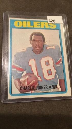 Charlie Joyner 1972 topps rookie card