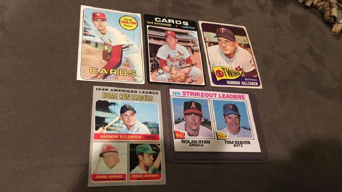 Five vintage baseball cards 1969 topps Steve