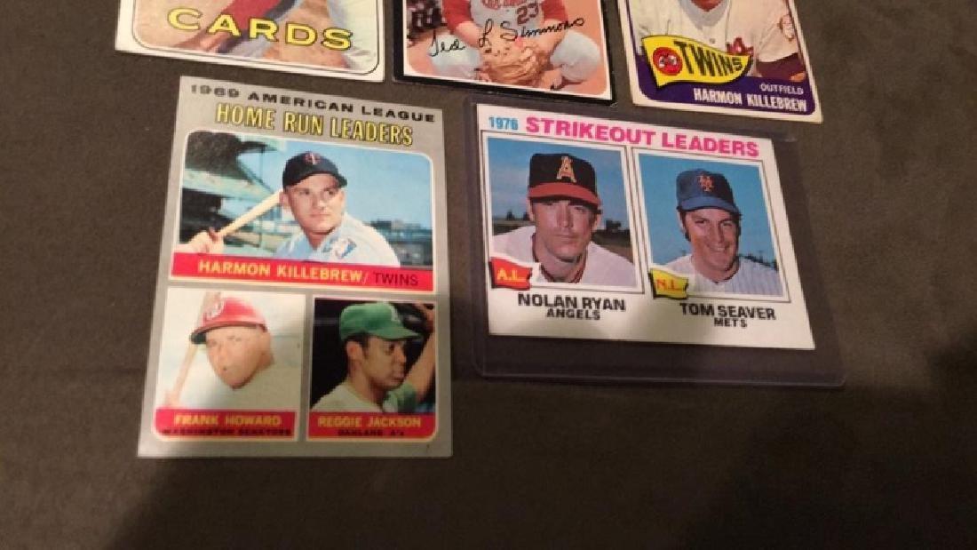 Five vintage baseball cards 1969 topps Steve - 2